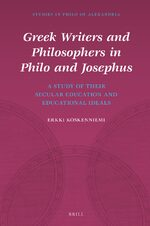 Cover Greek Writers and Philosophers in Philo and Josephus