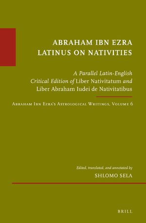 Cover Abraham Ibn Ezra Latinus on Nativities