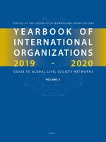 Cover Yearbook of International Organizations 2019-2020, Volume 2