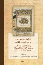 Cover Manuscripts, Politics and Oriental Studies