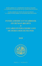Cover Inter-American Yearbook on Human Rights / Anuario Interamericano de Derechos Humanos, Volume 34 (2018) (3 VOLUME SET)