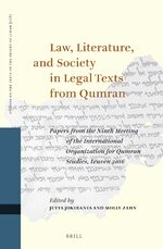 Cover Law, Literature, and Society in Legal Texts from Qumran