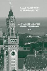 Cover Hague Yearbook of International Law / Annuaire de La Haye de Droit International, Vol. 29 (2016)