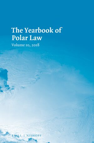 Cover The Yearbook of Polar Law Volume 10, 2018