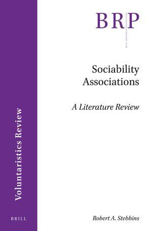 Sociability Associations: A Literature Review in: Sociability
