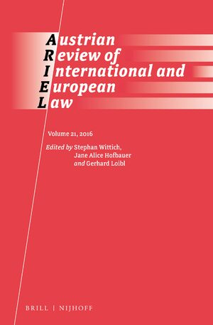Cover Austrian Review of International and European Law, Volume 21 (2016)