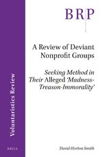 Cover A Review of Deviant Nonprofit Groups