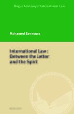 Cover International Law: Between the Letter and the Spirit