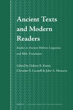 Cover Ancient Texts and Modern Readers