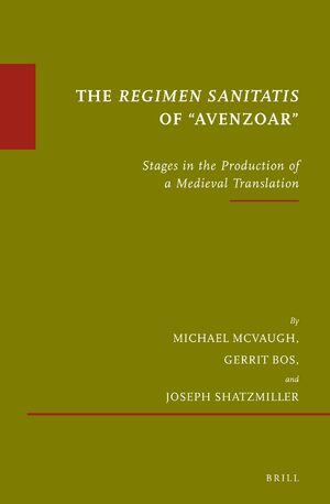 "The <i>Regimen sanitatis</i> of ""Avenzoar"""