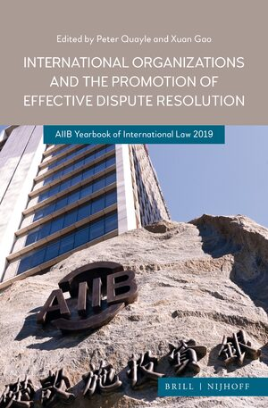 Cover International Organizations and the Promotion of Effective Dispute Resolution