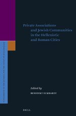Cover Private Associations and Jewish Communities in the Hellenistic and Roman Cities