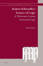 Cover Robert Kilwardby's Science of Logic