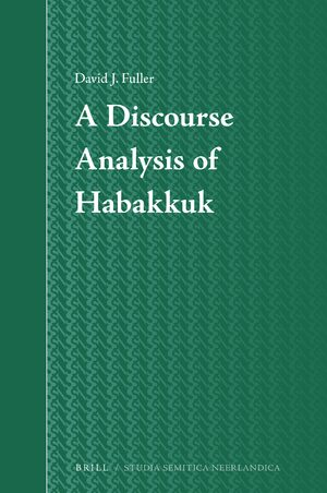Cover A Discourse Analysis of Habakkuk