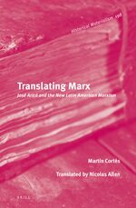 Cover Translating Marx