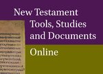 Cover New Testament Tools, Studies and Documents Online