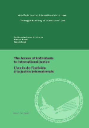 Cover The Access of Individuals to International Justice/L'accès de l'individu à la justice internationale