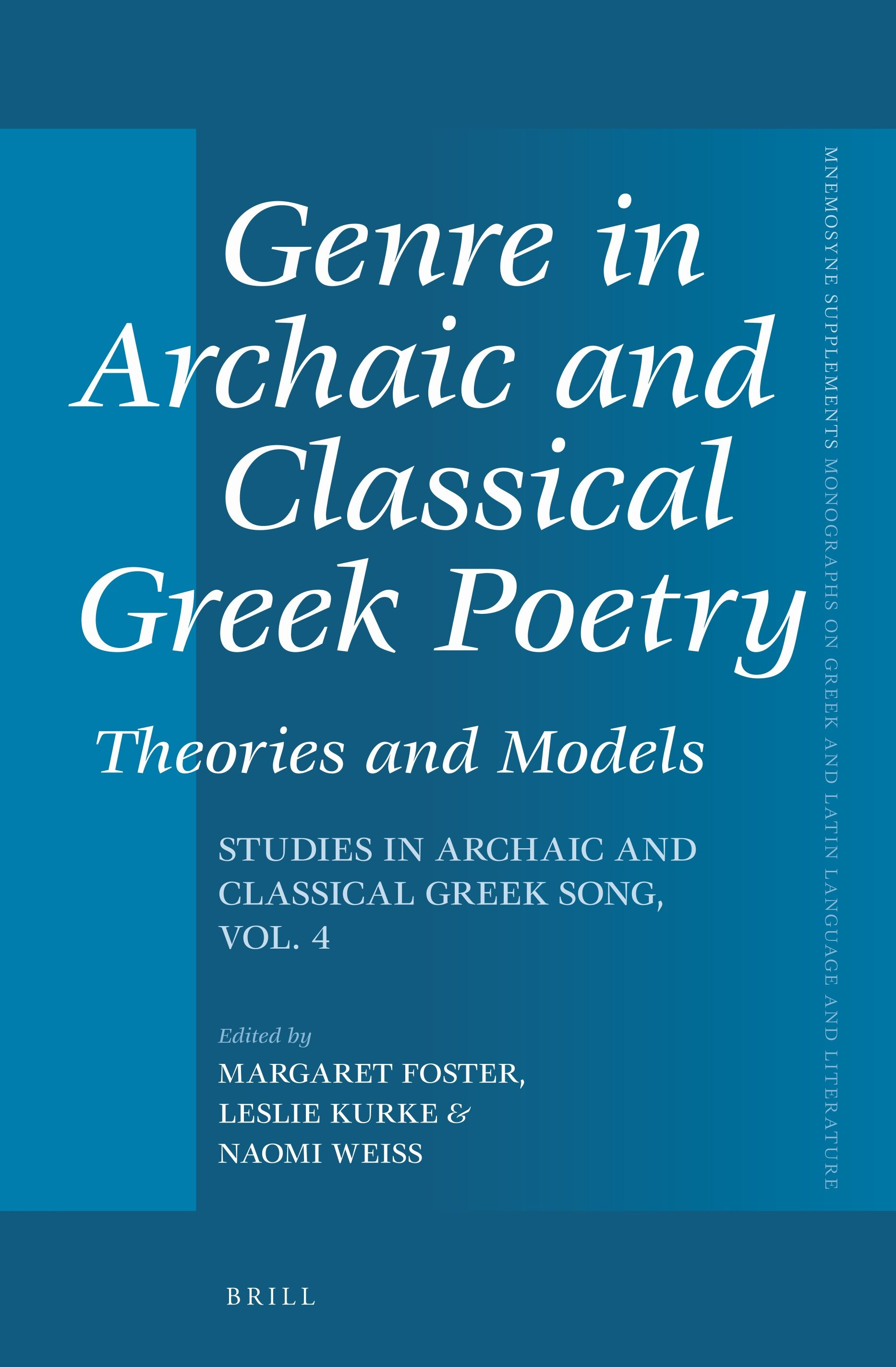 Bibliography In Genre In Archaic And Classical Greek Poetry