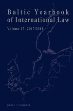 Cover Baltic Yearbook of International Law, Volume 17 (2017/2018)