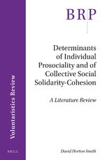 Cover Determinants of Individual Prosociality and of Collective Social Solidarity- Cohesion