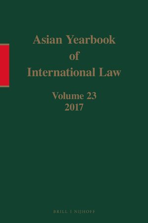 Cover Asian Yearbook of International Law, Volume 23 (2017)