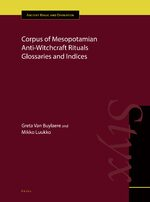 Cover Corpus of Mesopotamian Anti-Witchcraft Rituals Glossaries and Indices