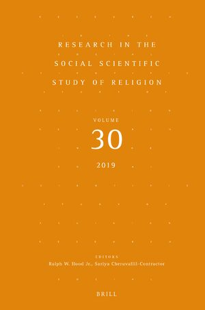 Cover Research in the Social Scientific Study of Religion, Volume 30