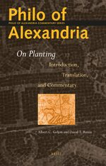 Cover Philo of Alexandria <i>On Planting</i>