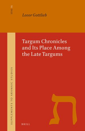 Cover Targum Chronicles and Its Place Among the Late Targums
