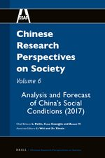 Cover Chinese Research Perspectives on Society, Volume 6
