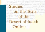 Cover Studies on the Texts of the Desert of Judah Online Supplement 2020