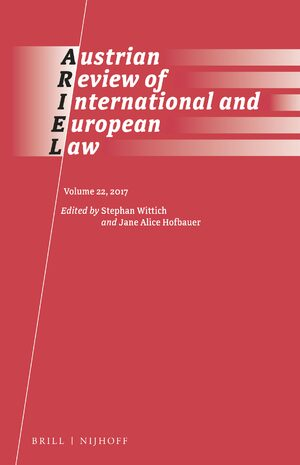 Cover Austrian Review of International and European Law, Volume 22 (2017)