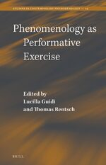Cover Phenomenology as Performative Exercise