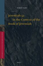 Cover Jeremiah 52 in the Context of the Book of Jeremiah