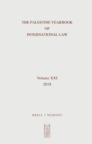 Cover The Palestine Yearbook of International Law (2018)