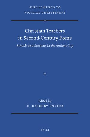 Cover Christian Teachers in Second-Century Rome