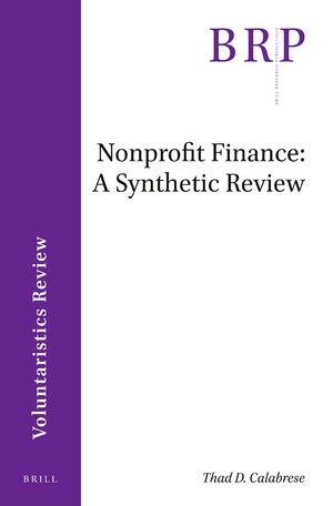 Cover Nonprofit Finance: A Synthetic Review