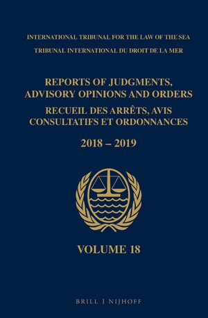 Cover Reports of Judgments, Advisory Opinions and Orders/ Receuil des arrets, avis consultatifs et ordonnances, Volume 18 (2018-2019)