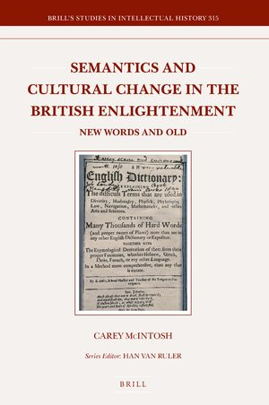 Cover Semantics and Cultural Change in the British Enlightenment: New Words and Old