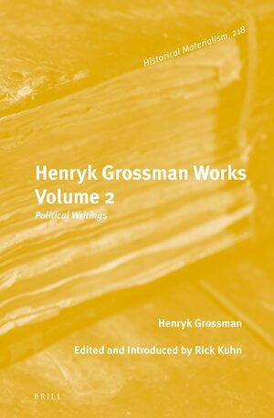 Cover Henryk Grossman Works, Volume 2