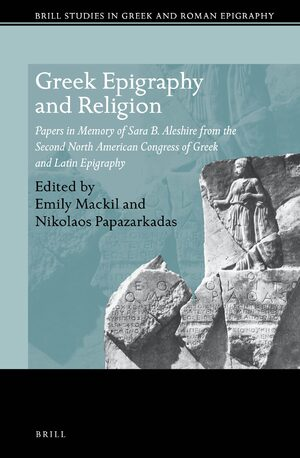 Cover Greek Epigraphy and Religion