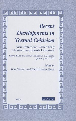 Cover Recent Developments in Textual Criticism