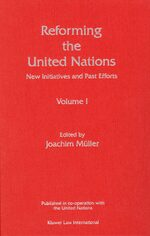 Cover Reforming the United Nations (3 Volume set)