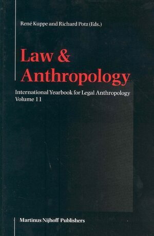 Cover International Yearbook for Legal Anthropology, Volume 11