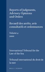 Reports of Judgments, Advisory Opinions and Orders / Recueil des arrêts, avis consultatifs et ordonnances, Volume 4 (2000)