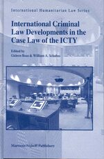 Cover International Criminal Law Developments in the Case Law of the ICTY