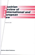 Cover Austrian Review of International and European Law, Volume 6 (2001)
