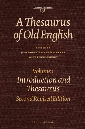 A Thesaurus of Old English, Volume 1