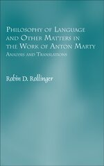 Cover Philosophy of Language and Other Matters in the Work of Anton Marty