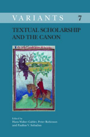Cover Textual Scholarship and the Canon
